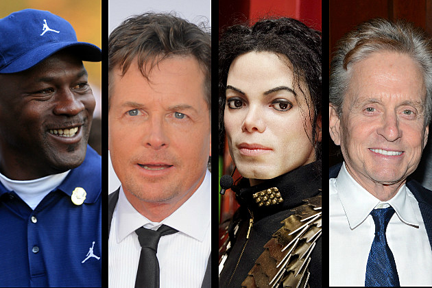 Michael Jordon, MIchael J. Fox, Michael Jackson, Michael Douglas