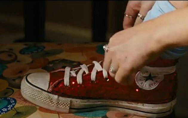 Ruby Red Chuck Taylor's from 'Fun Size'