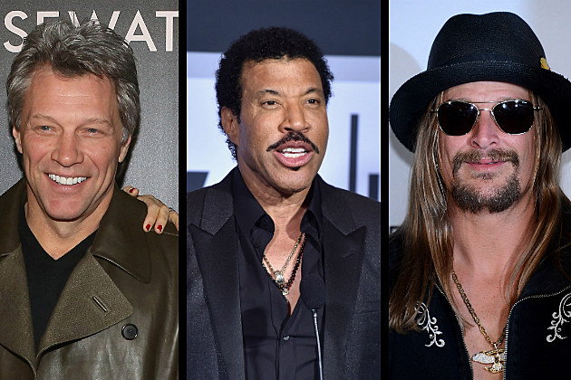 Jon Bon Jovi, Lionel Richie, Kid Rock