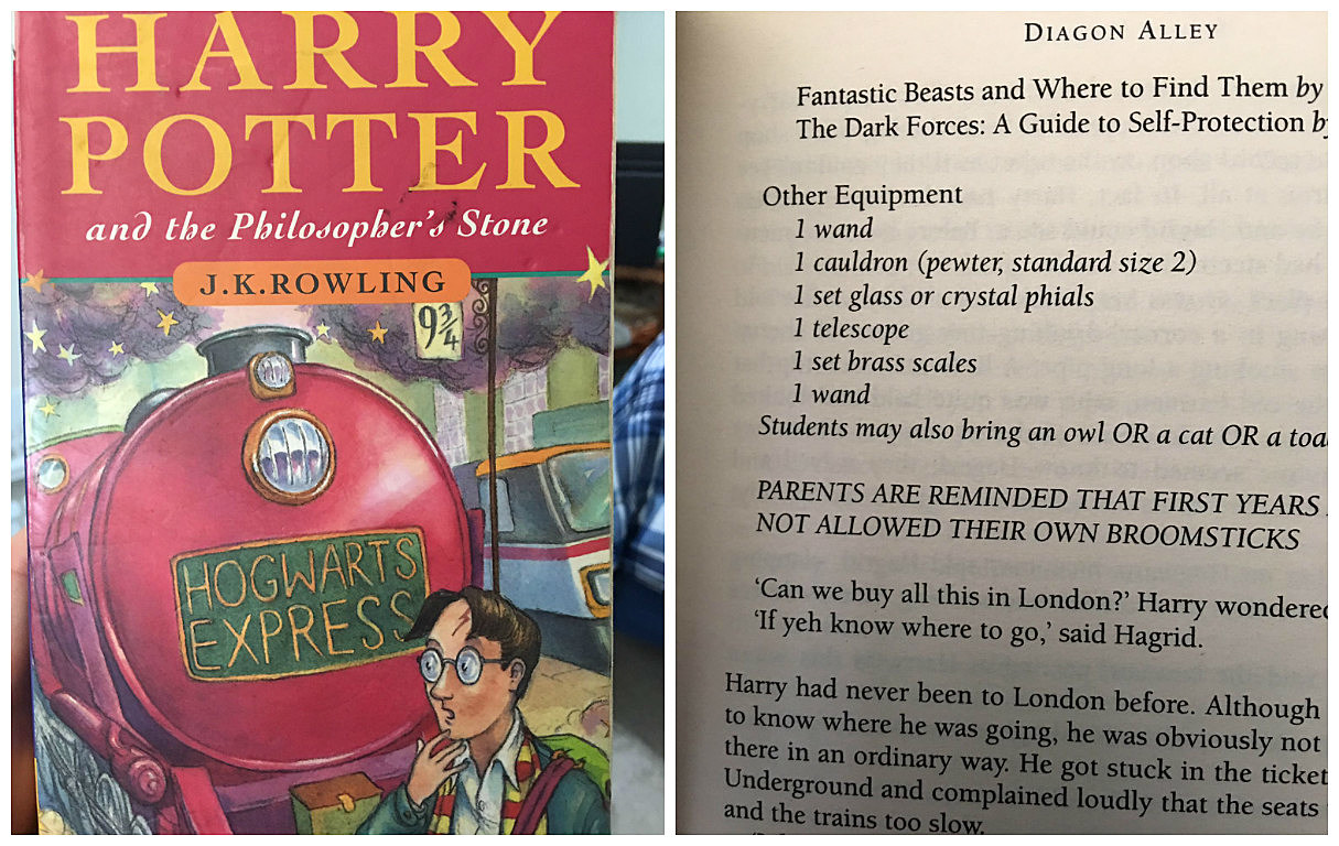Harry Potter Book Error : Quincyan discovers rare and valuable harry potter typo