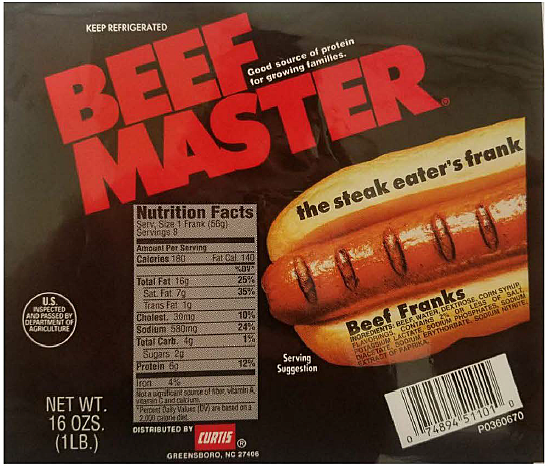 Beef Master Hot Dogs
